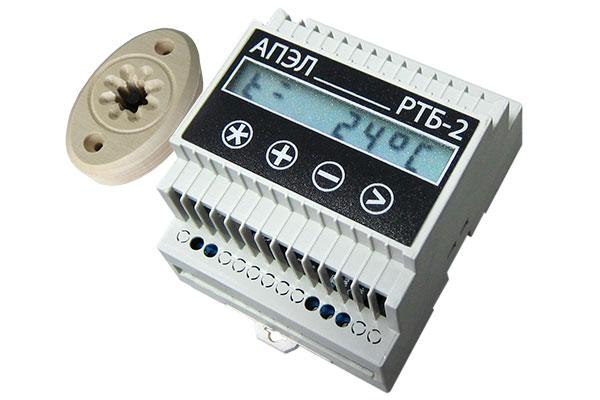 Регулятор температуры бытовой РТБ-2 в корпусе DIN с декоративным датчиком