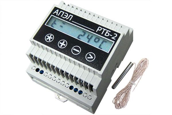 Регулятор температуры бытовой РТБ-2 в корпусе DIN с герметичным датчиком