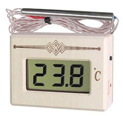 Термометр электронный для сауны ТЭС Pt (в корпусе из липы) с герметичным датчиком