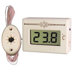 Термометр электронный для сауны ТЭС Pt (в корпусе из липы) с декоративным датчиком