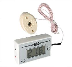 Термометр электронный ТЭС-2Pt (в пластиковом корпусе) с декоративным датчиком