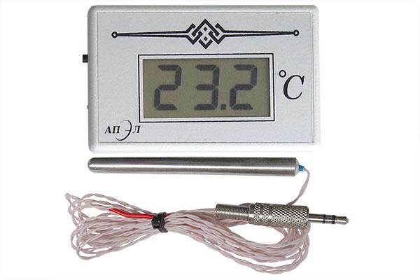 Термометр электронный ТЭС-2Pt (в пластиковом корпусе) с герметичным датчиком